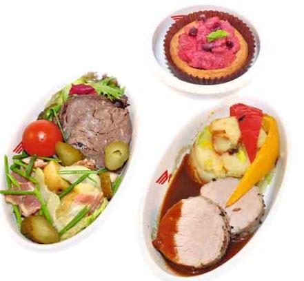 Разнообразное питание в ресторане в Сапсане