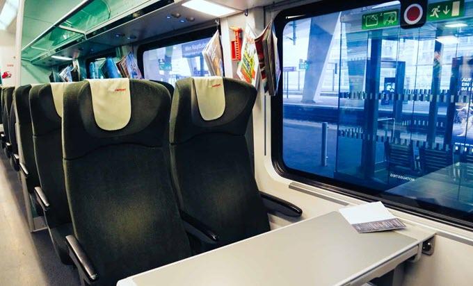 Сидения со столом в Railjet Эконом класс